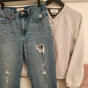 Madewell Classic Straight Jean, Distressed